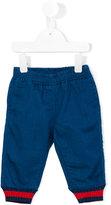 Gucci Kids - striped cuffs trousers - kids - Cotton/Polyester/Spandex/Elastane - 9-12 mth