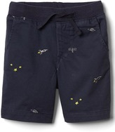 Gap Space embroidery pull-on short
