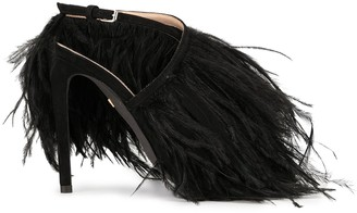Giambattista Valli Feather-Embellished Stiletto Sandals