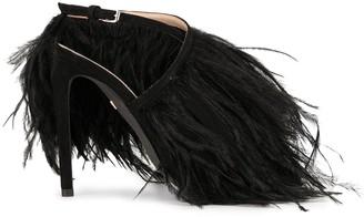 Giambattista Valli feather-embellished stiletto sandals