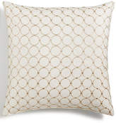 "Hallmart Collectibles Blush Embroidered Geo 18"" Square Decorative Pillow"