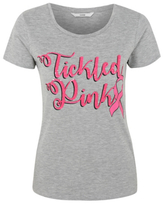 George Tickled Pink Glitter Slogan T-Shirt
