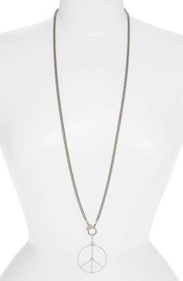 Sheryl Lowe Peace Sign Pendant Necklace