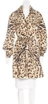 Roberto Cavalli Printed Notch-Lapel Coat