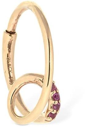 Maria Black Pink Sapphire Left Side Mono Earring