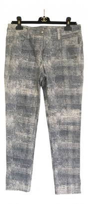 Chanel Blue Cotton Trousers