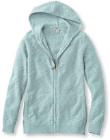 L.L. Bean Textured Cotton Sweater, Zip-Front Hoodie