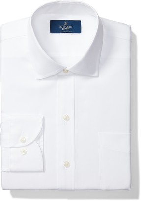 Buttoned Down Amazon Brand Men's Slim-Fit Spread Collar Pinpoint Non-Iron Dress Shirt