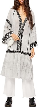Free People Vagabond Cotton Embroidered Tunic