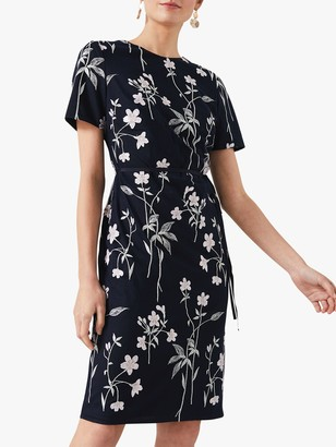 Phase Eight Kirsty Petals Dress, Navy
