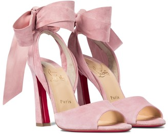 Christian Louboutin Rose Amelie 100 suede sandals