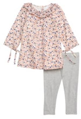 Nordstrom Ruffle Collar Dress & Leggings Set (Baby)
