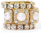 JCPenney MIXIT Faux Pearl and Crystal Stackable 3-pc. Stretch Ring Set