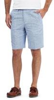 Maine New England Blue Textured Shorts