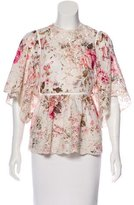 Zimmermann Embroidered Printed Top