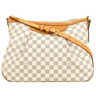 Louis Vuitton Siracusa Beige Cloth Handbags