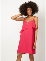 George Ruffled Dress with Necklace