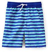 Classic Boys Husky Printed Swim Trunks-Deep Sea