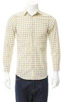 Jil Sander Check Print Button-Up Shirt