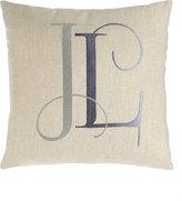 "Anali Tangier Pillow with Monogram, 16""Sq."