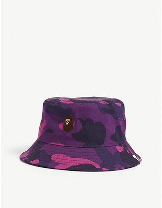 A Bathing Ape Camouflage-print cotton bucket hat