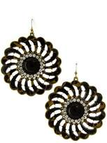 Trendy Fashion Jewelry Elegant Shell Stone Flower Motif Earring By Fashion Destination |
