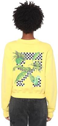 Off-White Printed Cotton Jersey Sweatshirt