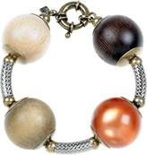 Multicolored ball bracelet