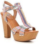 GB Block-Out T-Strap Platform Sandals