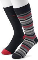 Izod Men's 2-pack Striped & Solid Dress Socks