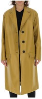 Prada Leather Knee Length Coat