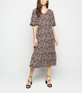 New Look JDY Floral V Neck Midi Dress