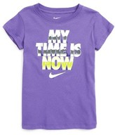 Nike Girl's My Time Is Now Graphic Tee