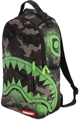 Sprayground Glow In The Dark Camo Shark Backpack