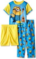 Despicable Me Big Boys Minion Music Confidence 3-Piece Pajama Set