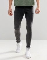 Asos Extreme Super Skinny Jeans In Acid Wash