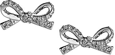 Kate Spade Skinny Mini Pave Bow Stud Earrings