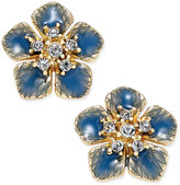 Charter Club Gold-Tone Colored Flower Crystal Stud Earrings, Only at Macy's