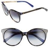 Kate Spade Women's 'Amayas' 53Mm Cat Eye Sunglasses - Black