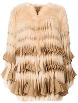 Givenchy fringed fur coat