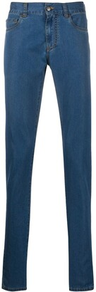 Canali Mid-Rise Slim Fit Jeans