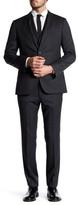 HUGO BOSS Hat Trick Two Button Notch Lapel Wool Trim Fit 3-Piece Suit