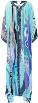 Camilla Printed silk maxi kaftan