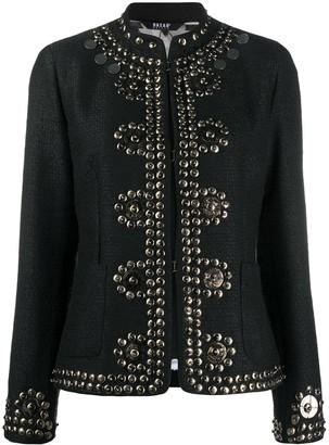 Bazar Deluxe Studded Mock-Neck Jacket