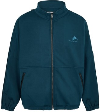 Flagstuff Teal jersey track jacket