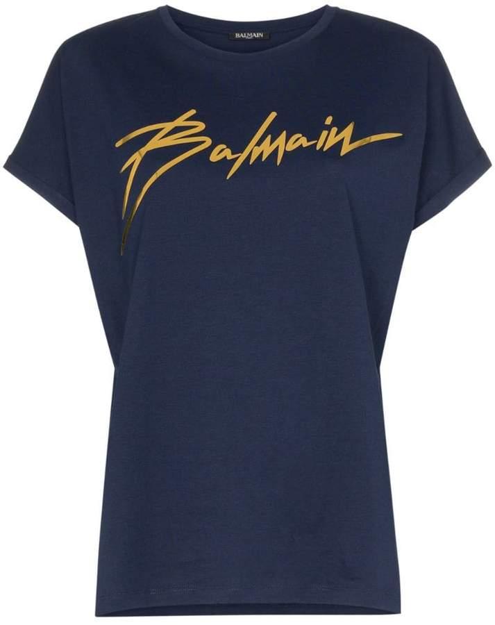 45ad6fb3a9 Embellished T Shirt Balmain - ShopStyle