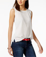 Tommy Hilfiger Crochet-Contrast Shell, Only at Macy's