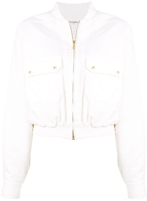 Chanel Pre Owned 1997 Gathered Bomber Jacket