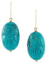 Aurelie Bidermann 'Scarab' turquoise earrings