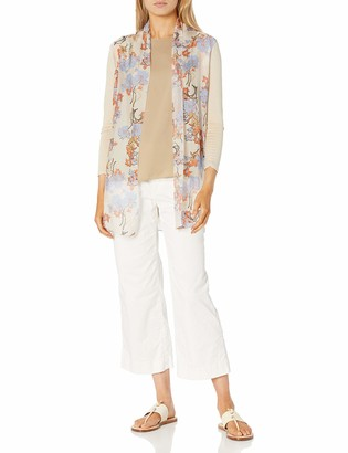 M Made in Italy Women's Plus Size Floral Print Long Sleeve Cardigan
